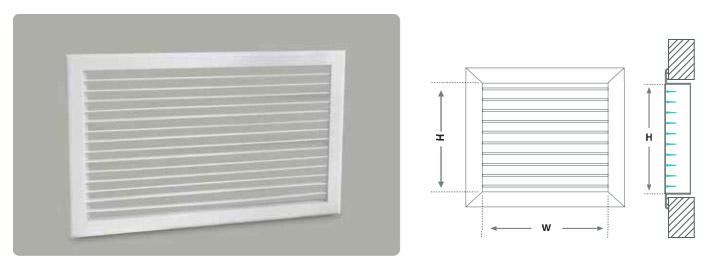 Tek sıra kanatlı menfez, klima, havalandırma ve ısıtma sistemlerinde emiş menfezi olarak kullanılır.